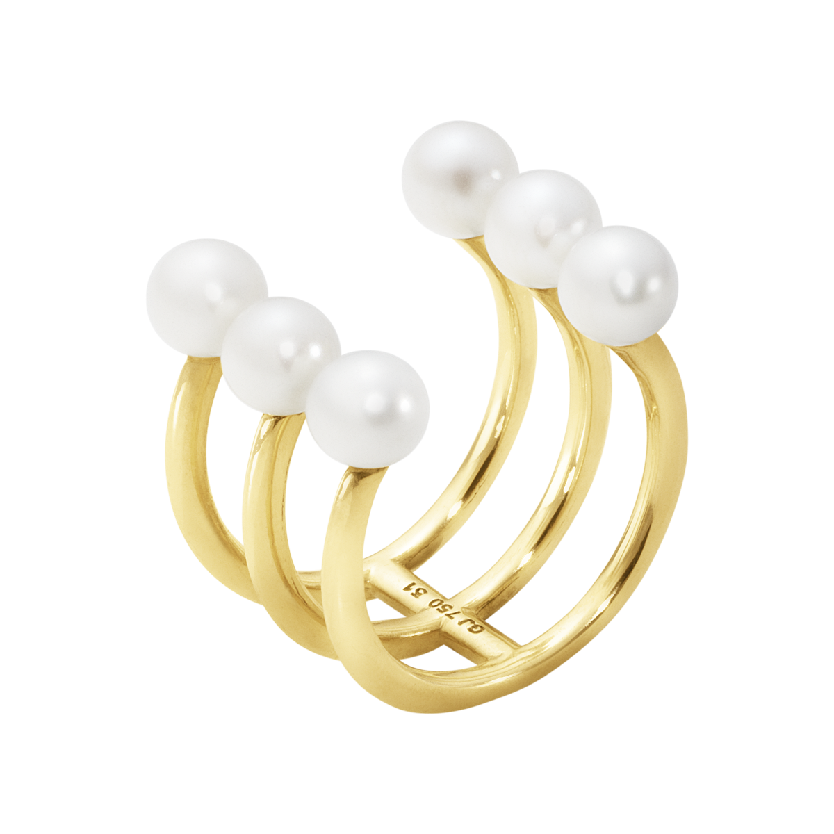Image of   Georg Jensen Neva 3 ring 18 kt