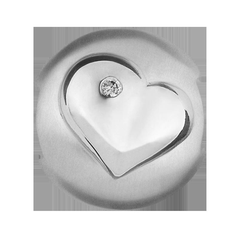 Image of   byBiehl Kate Charm i Sterling Sølv med Diamant 0,03 Carat
