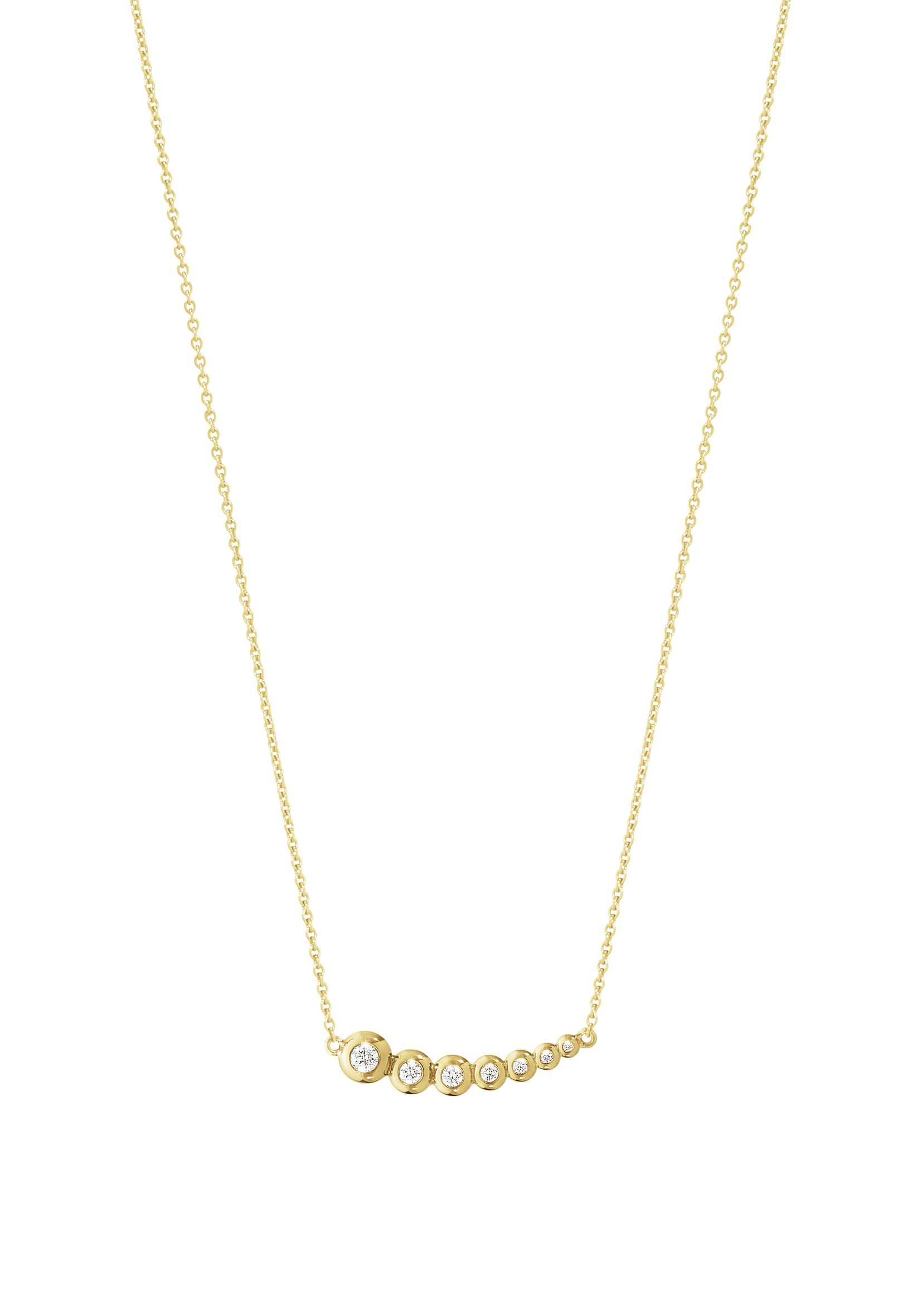 Georg Jensen Aurora Halskæde i 18 Karat Guld med Diamanter