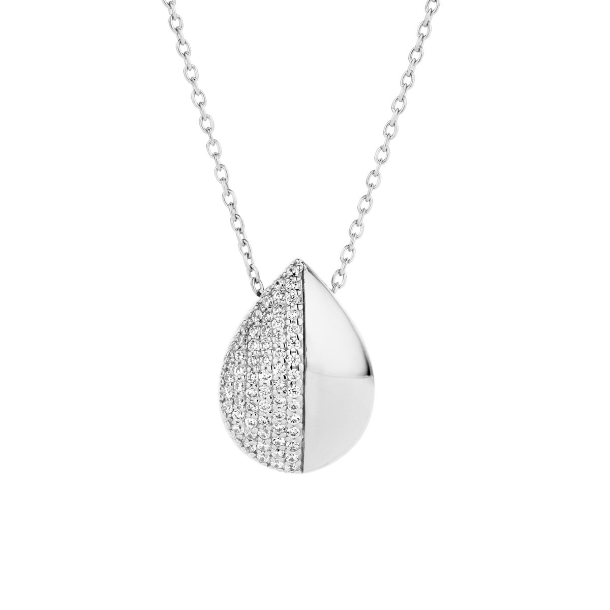 Drop Sølv Halskæde fra Spirit Icons S10321-45