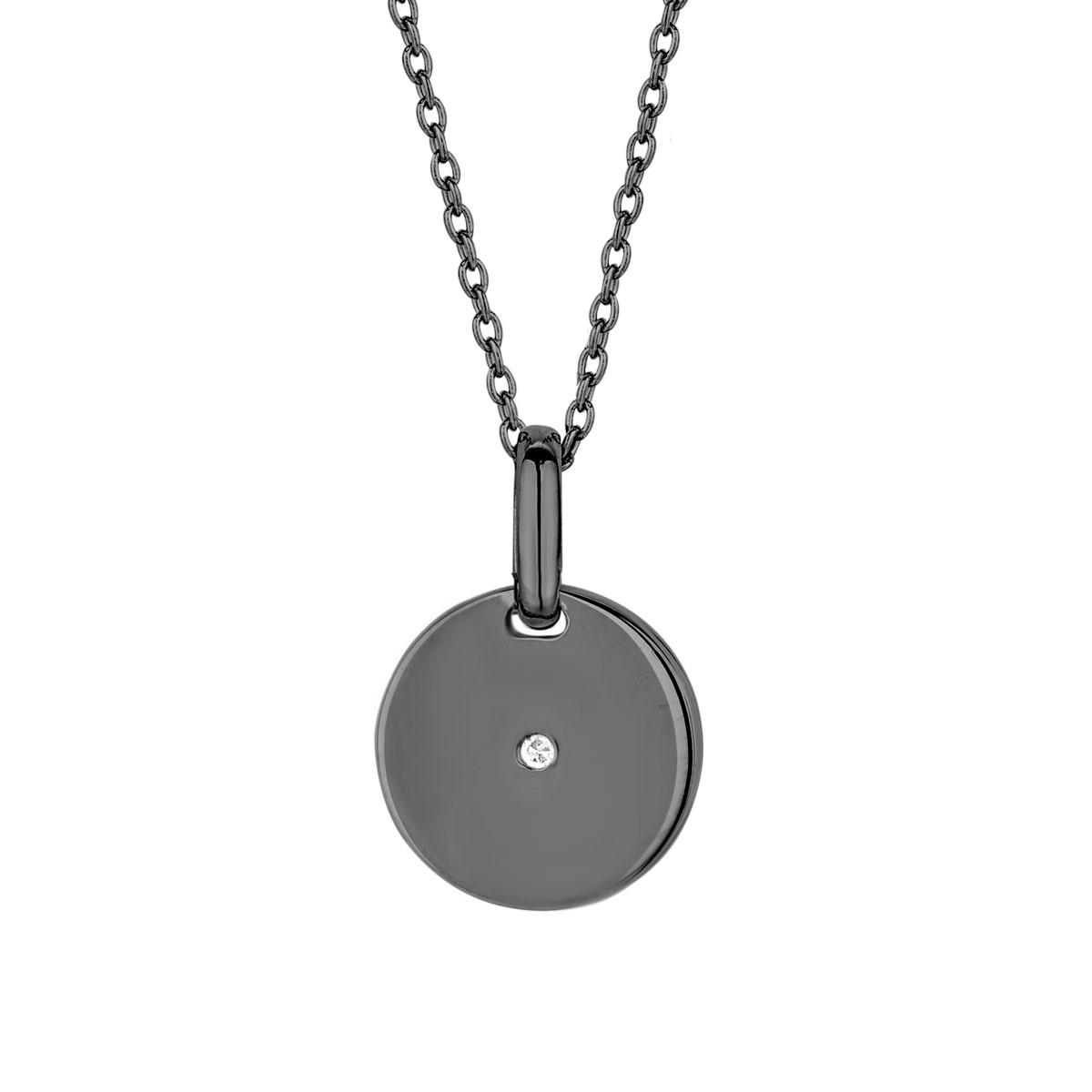 Pulse Sølv Halskæde fra Spirit Icons med Diamant 0,01 Carat W/VS