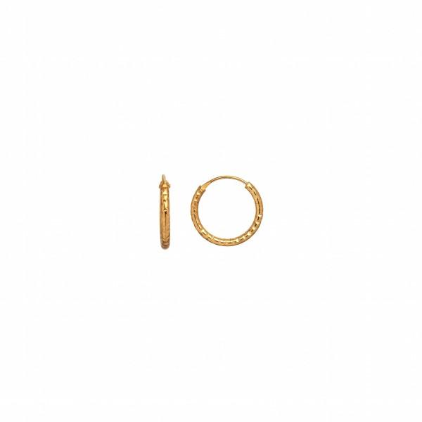 Stine A Petit Tinsel Forgyldt Sølv Ørering 1094-02-S