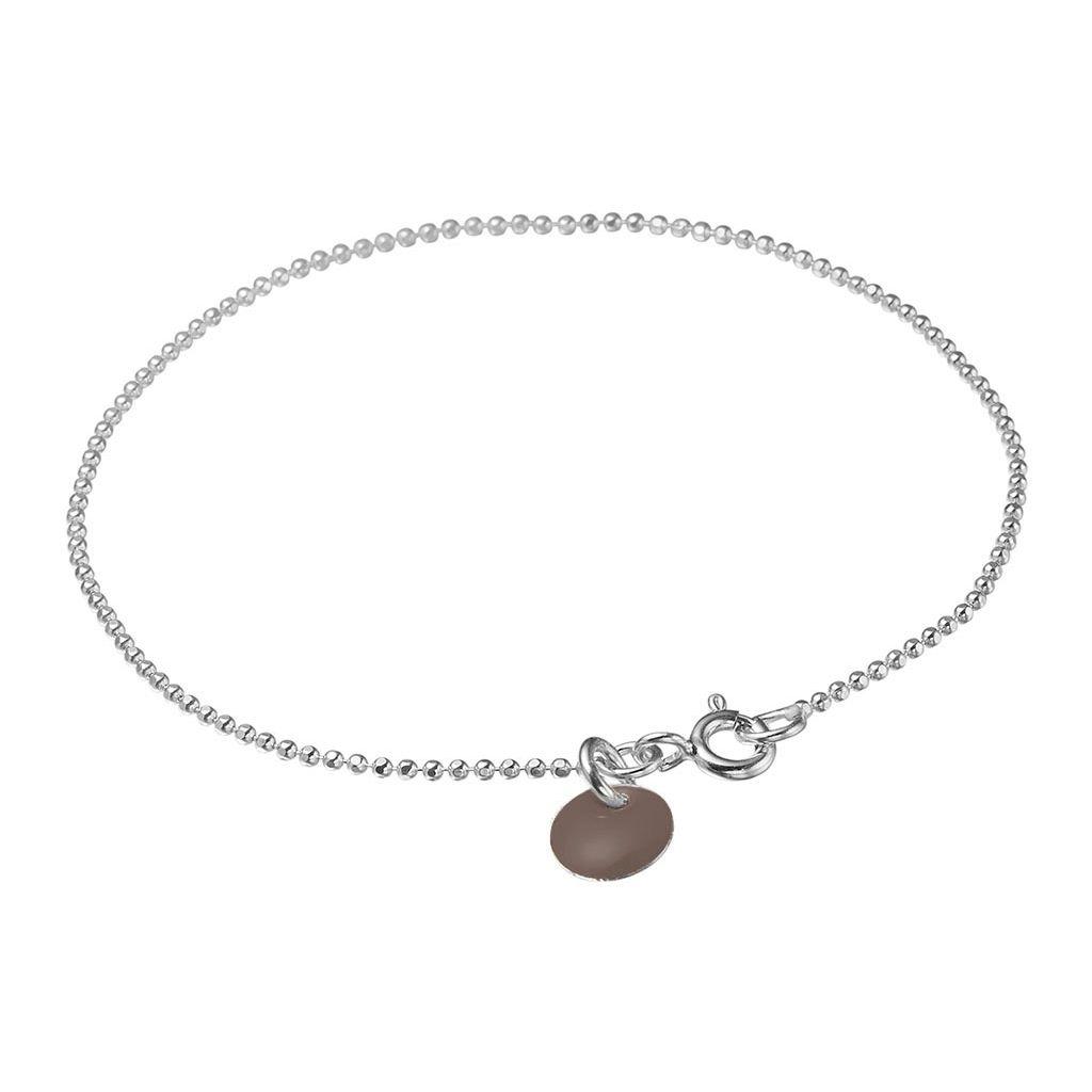 Image of   Dusty Purple Ball Chain Sterling Sølv Armbånd fra Enamel