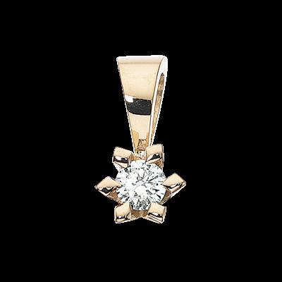 Victoria 14 Karat Guld Vedhæng fra Scrouples med Diamant 0,10 Carat TW/SI