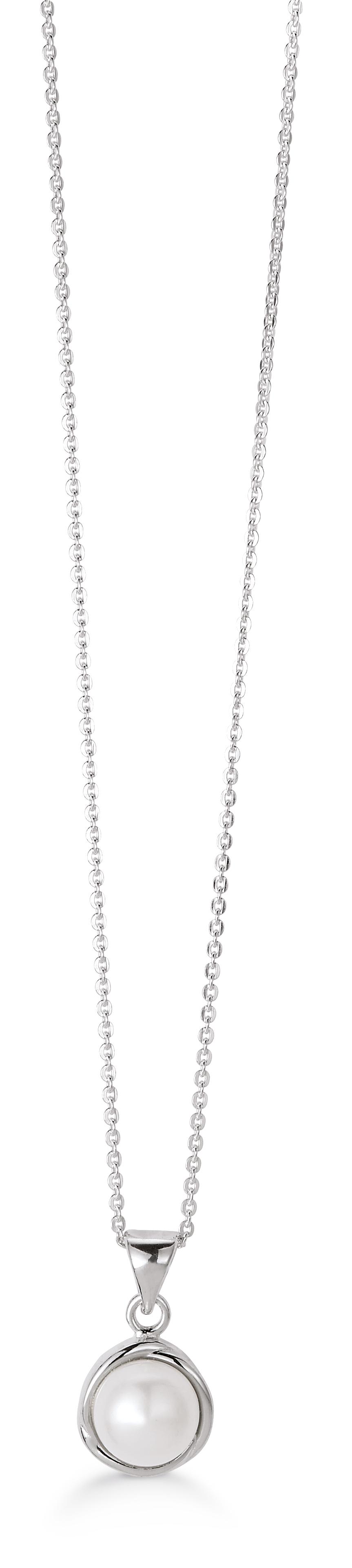 Aagaard Sterling Sølv Halskæde med Ferskvandsperle