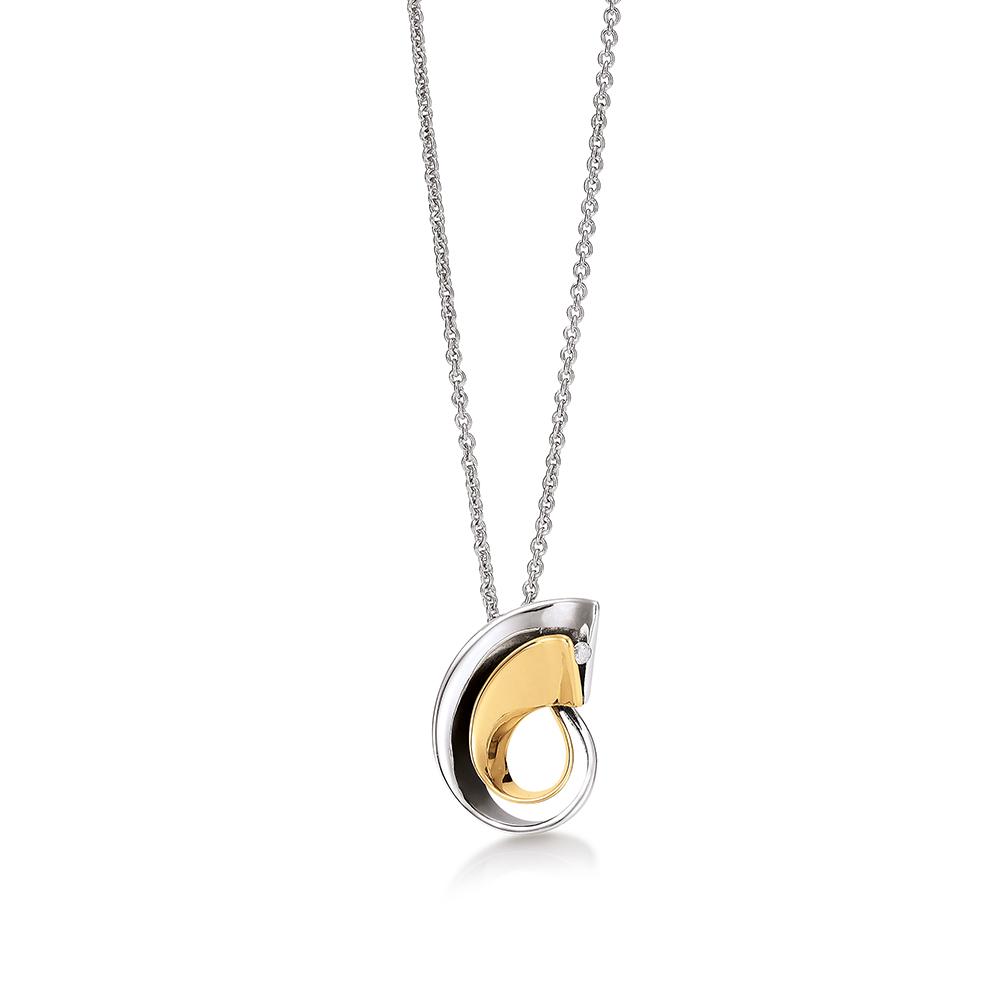 Aagaard Sterling Sølv Halskæde med Diamant 0,02 Carat W/P1