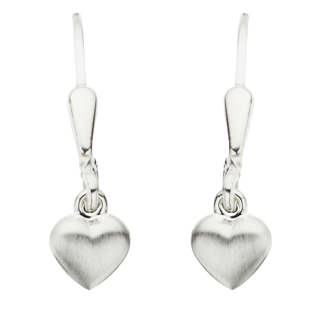 Hjerte Sterling Sølv Ørehængere fra Scrouples 114222