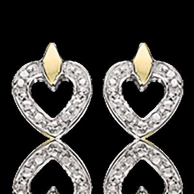 8 Karat Guld Øreringe fra Scrouples med Diamanter 0,012 Carat W/1P