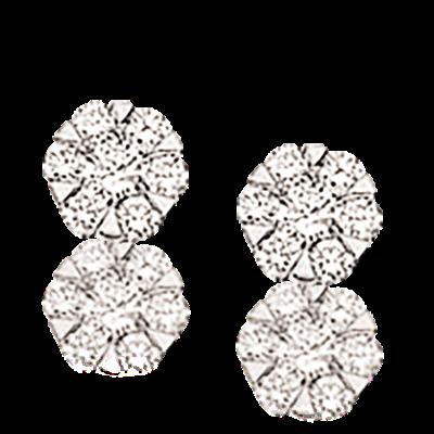 14 Karat Hvidguld Øreringe fra Scrouples med Brillanter 0,19 Carat W/SI