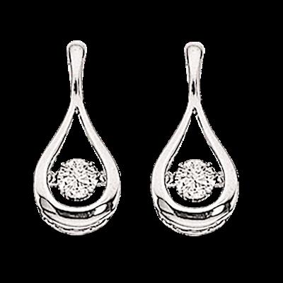 Scrouples 14 Karat Hvidguld Øreringe med Diamanter 0,19 Carat W/SI