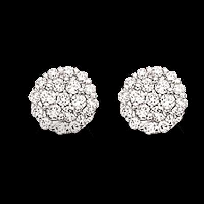 Scrouples Øreringe i 14 Karat Hvidguld med Brillanter 0,30 Carat W/SI
