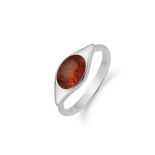 Aagaard Sterling Sølv Ring med Rav