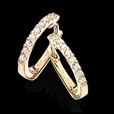 14 Karat Guld Øreringe fra Scrouples med Diamanter 0,12 Carat W/SI