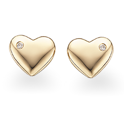 Image of   8 Karat Guld Øreringe fra Scrouples med Diamanter 0,03 Carat W/P1