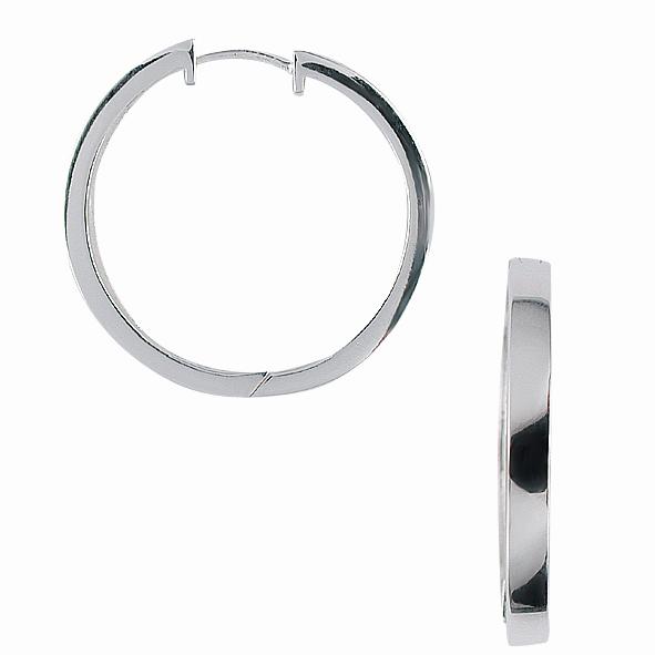 Aagaard Reol Øreringe i Sterling Sølv 1199053