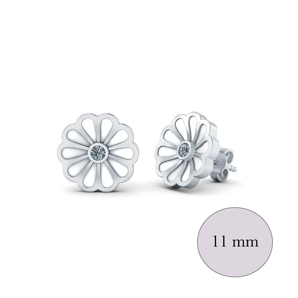 Smykkekæden Blomst Sterling Sølv Ørestikker ORSB013S