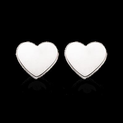 Scrouples Hjerte Øreringe i Sterling Sølv 141622