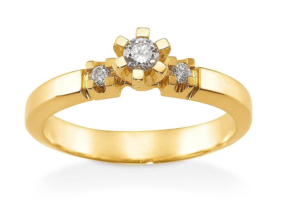 Image of   Aagaard Mary Ring i 14 Karat Guld med Diamanter 0,18 Carat W/PI