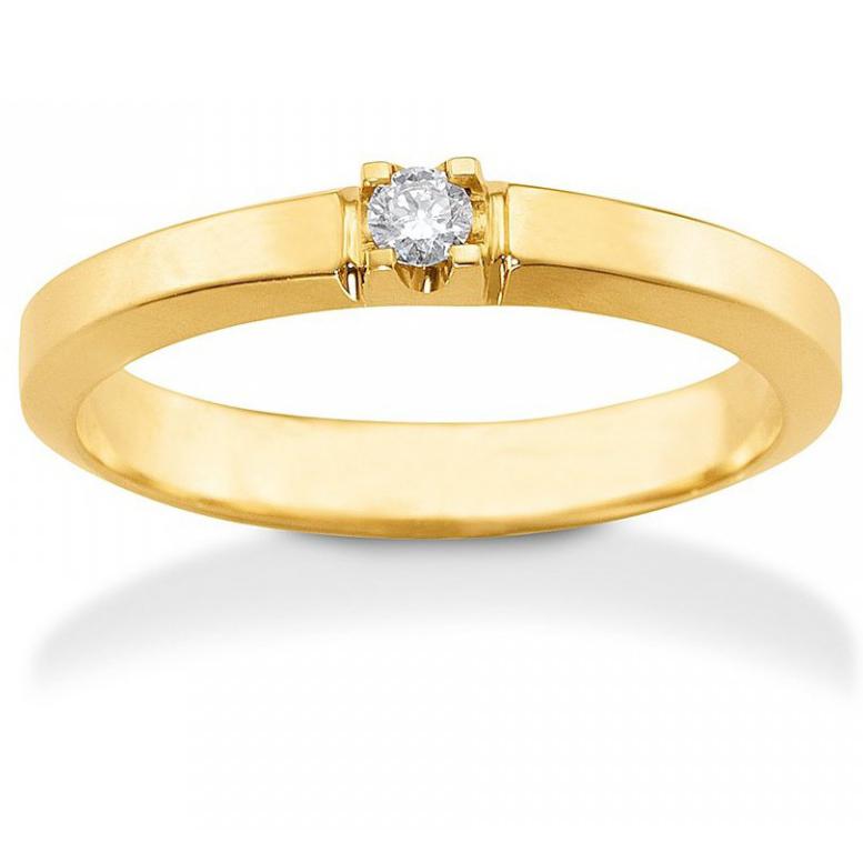 Image of   Aagaard Mary Ring i 14 Karat Guld med Diamant 0,07 Carat