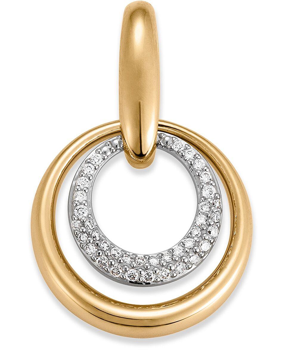 Aagaard 14 Karat Guld Vedhæng med Diamanter 1484991-34