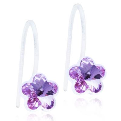 Blomdahl Fixed Flower Violet Ørestikker i Medicinsk Plastik