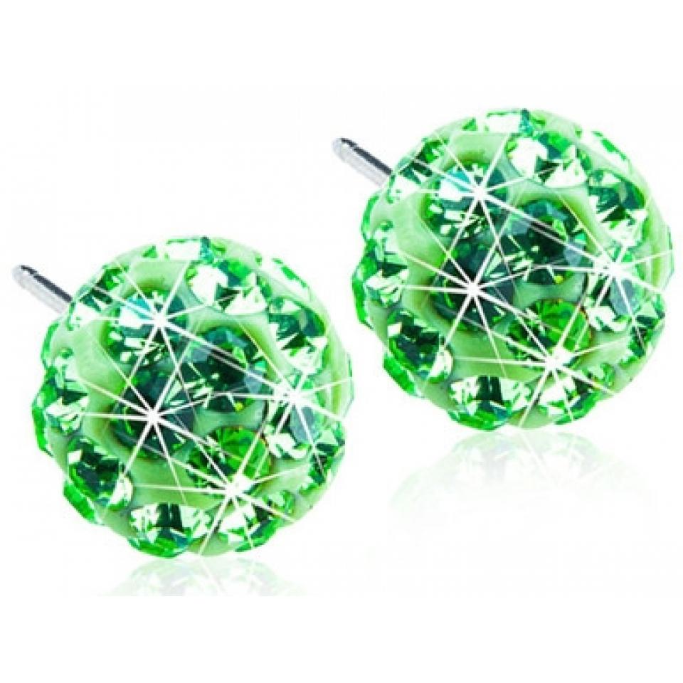 Image of   Blomdahl Crystal Ball Green 6 mm