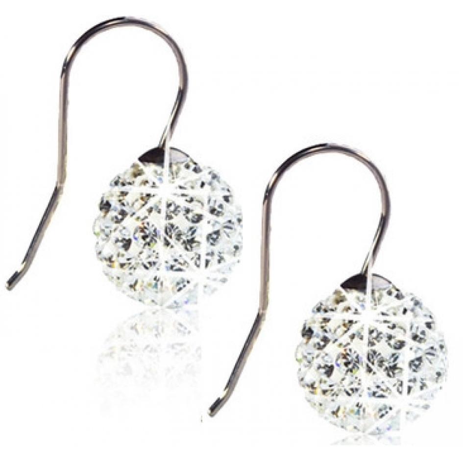 Blomdahl Crystal Ball Pendant White øreringe