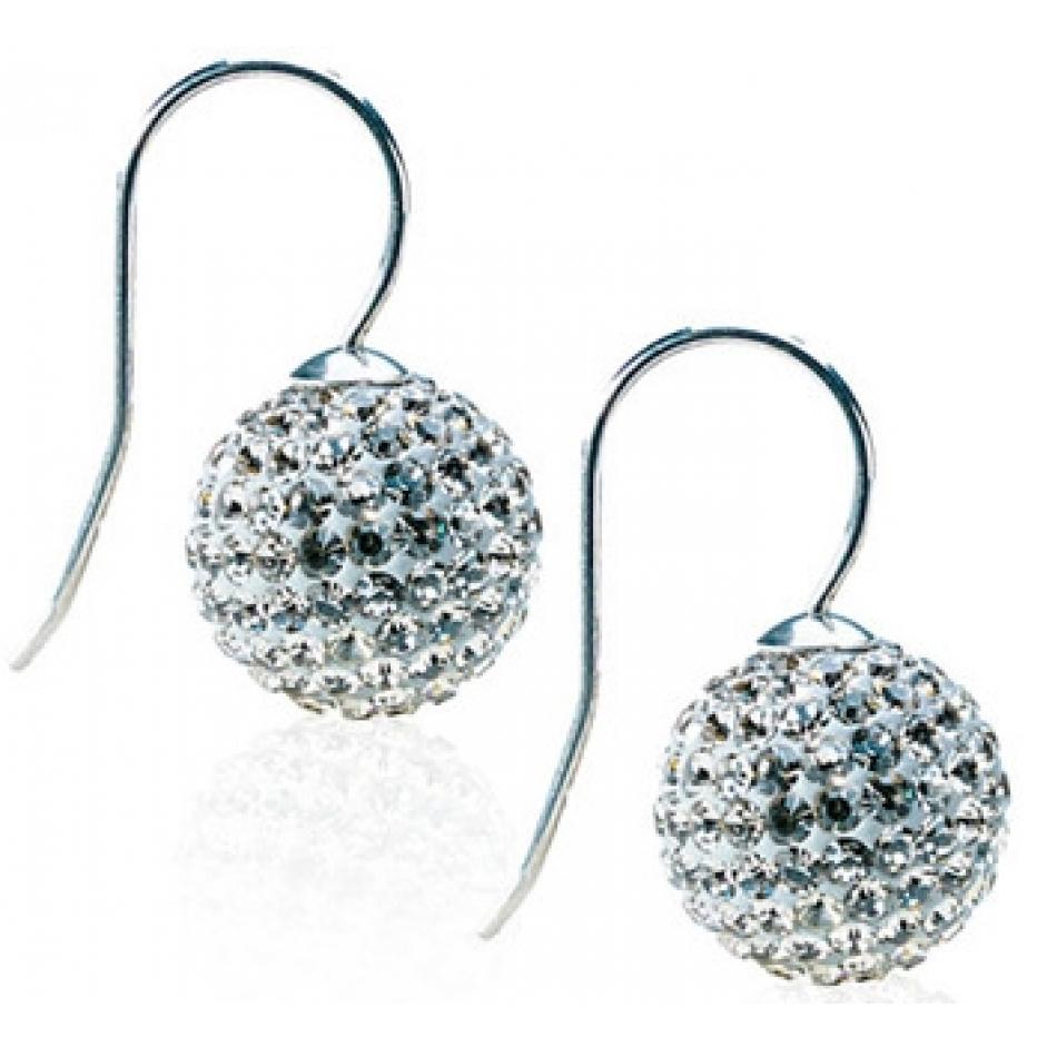 Blomdahl Crystal Ball Pendant Black Diamond øreringe