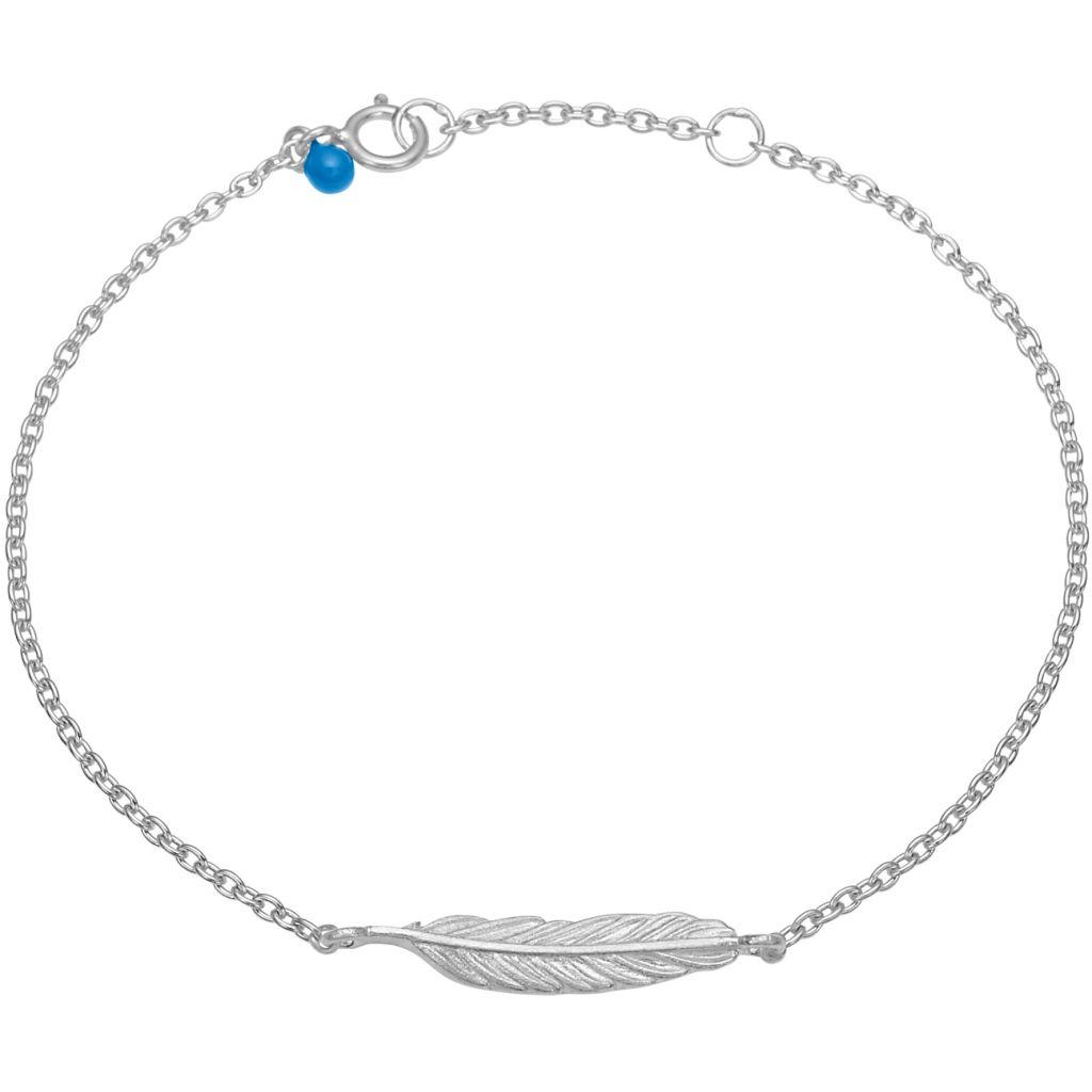 Enamel Feather Armbånd i Sterling Sølv B47SM