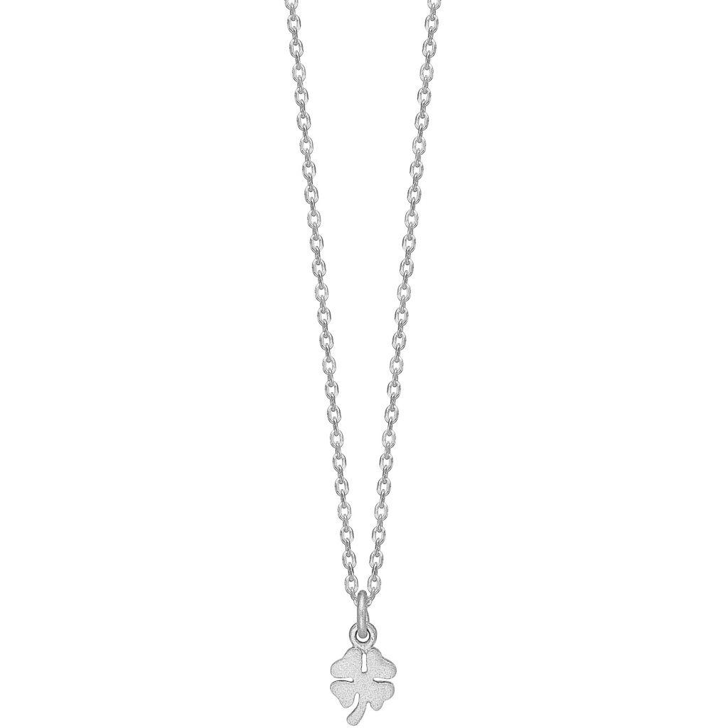 Enamel Clover Sterling Sølv Halskæde N9SM