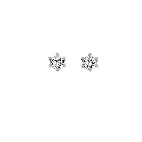 Aagaard Cheri 14 Karat Hvidguld Ørestikker med Diamanter