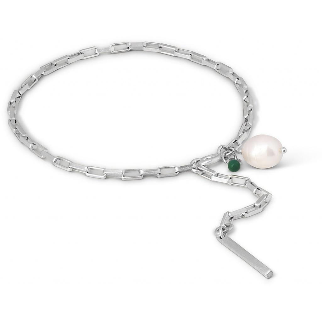 Azra Sterling Sølv Armbånd fra Enamel med Ferskvandsperle
