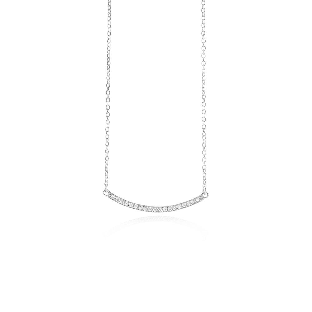 Sterling Sølv Halskæde fra Susanne Friis Bjørner med Zirkonia