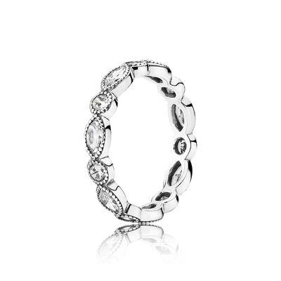 Image of   Alluring Brilliant Sølv Ring fra Pandora