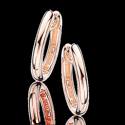 Rosaforgyldt Sølv Øreringe fra Scrouples 193382