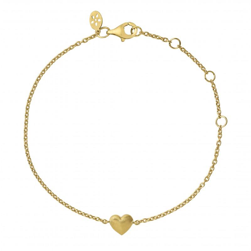 byBiehl Fine Heart 18 Karat Guld Armbånd 2-2101-G