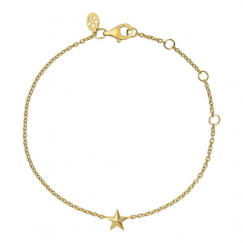 byBiehl Fine Star Armbånd i 14 Karat Guld 2-2102-G