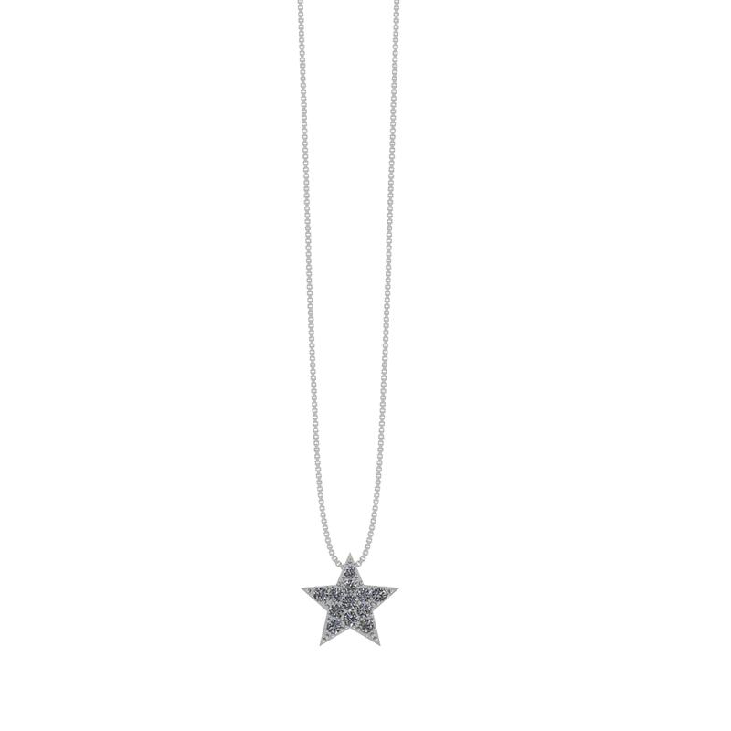 Smykkekæden Sølv Halskæde med Stjernevedhæng