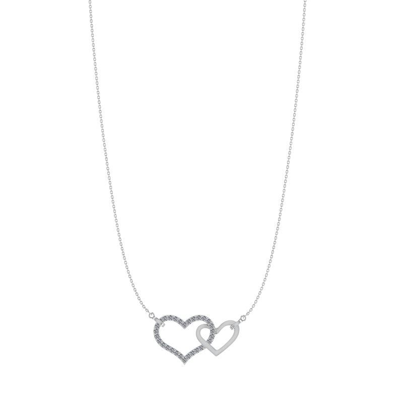 Sølv Halskæde fra Smykkekæden med Hjertemotiv