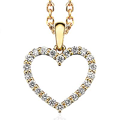 Scrouples 14 Karat Guld Halskæde med Brillanter 0,27 Carat W/SI