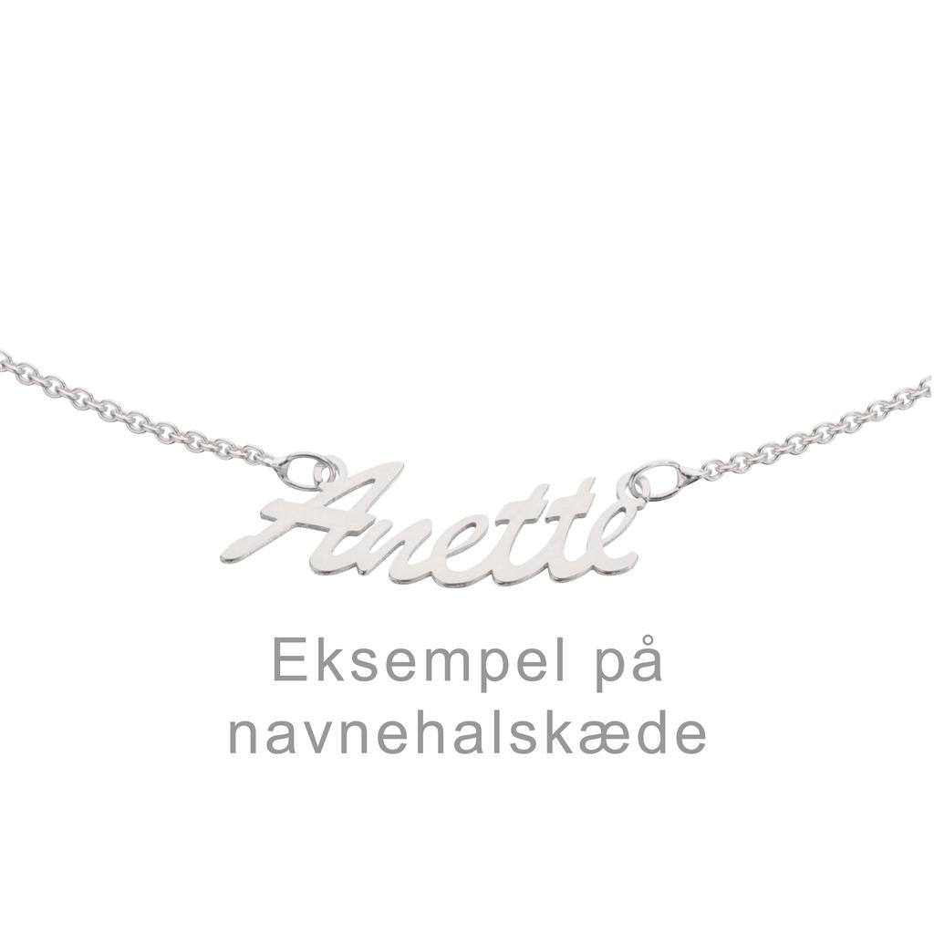 Sterling Sølv Halskæde fra Scrouples NAVN-SØLV
