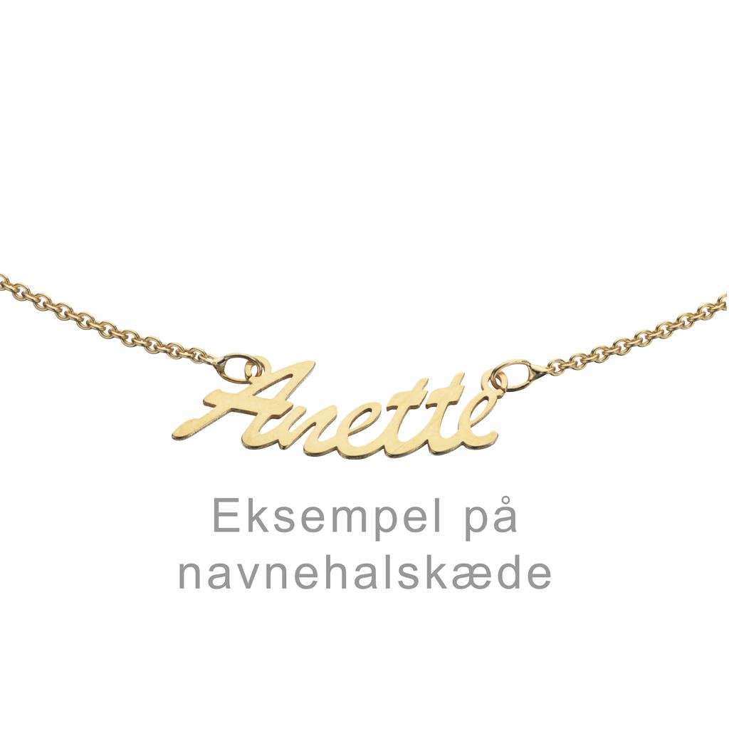 Image of   8kt Guld Navnehalskæde fra Scrouples NAVN-GULD