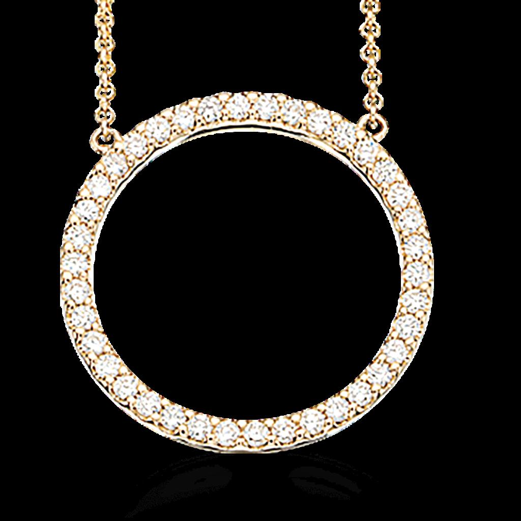 Scrouples 14 Karat Guld Vedhæng med Diamanter 0,34 Carat W/SI
