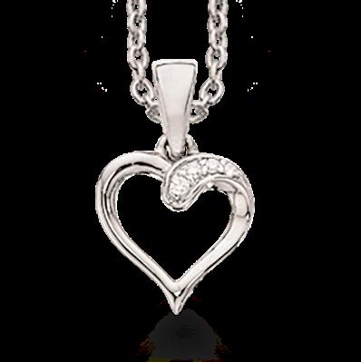 Image of   14 Karat Guld Halskæde fra Scrouples med Diamanter 0,015 Carat W/SI