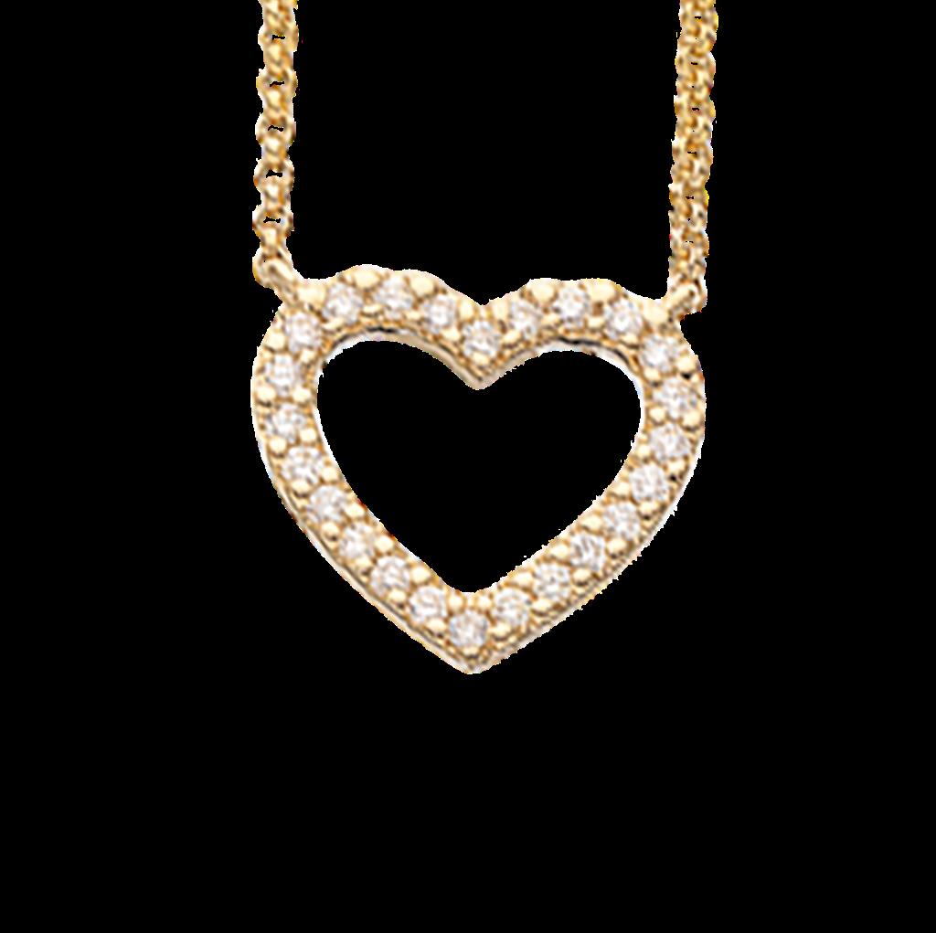 Image of   14 Karat Guld Vedhæng fra Scrouples med Diamanter 0,15 Carat W/SI