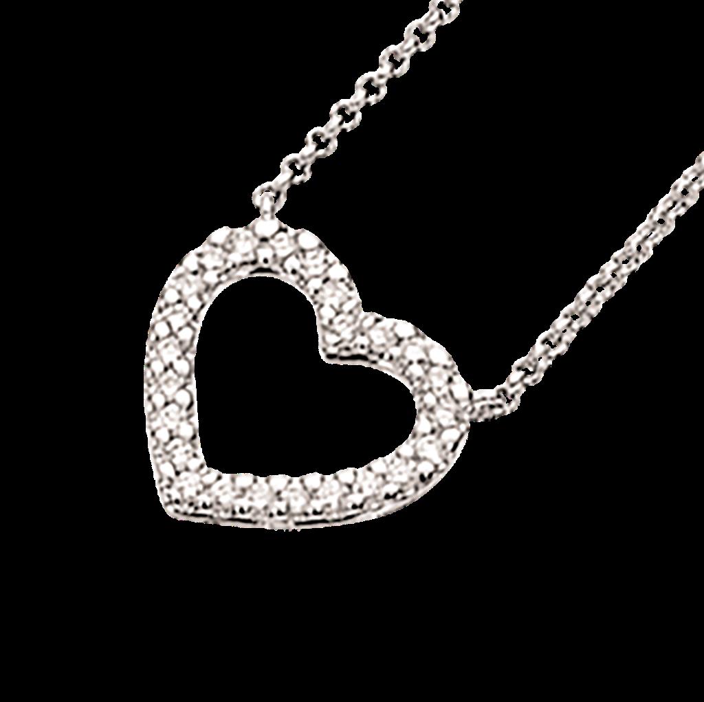 Scrouples 14 Karat Hvidguld Vedhæng med Diamanter 0,15 Carat W/SI