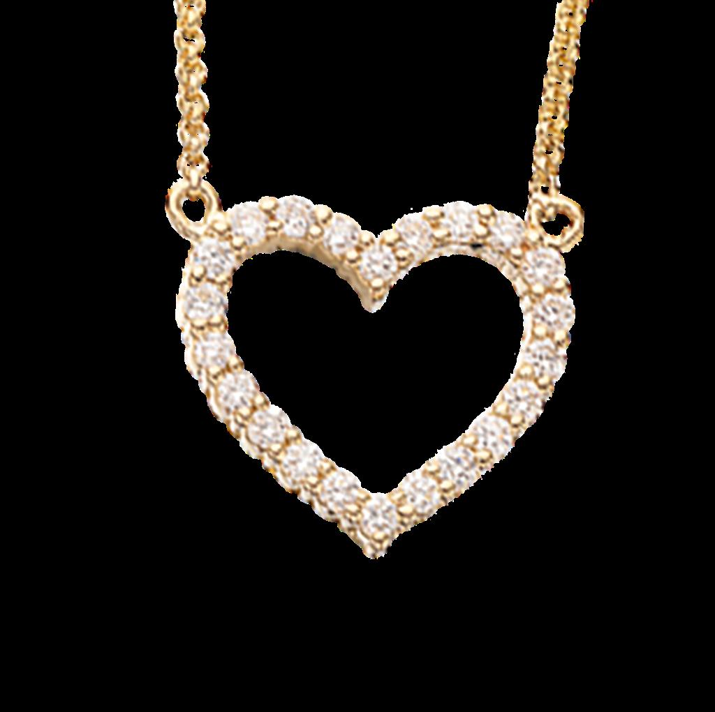 Scrouples Vedhæng i 14 Karat Guld med Diamanter 0,25 Carat W/SI
