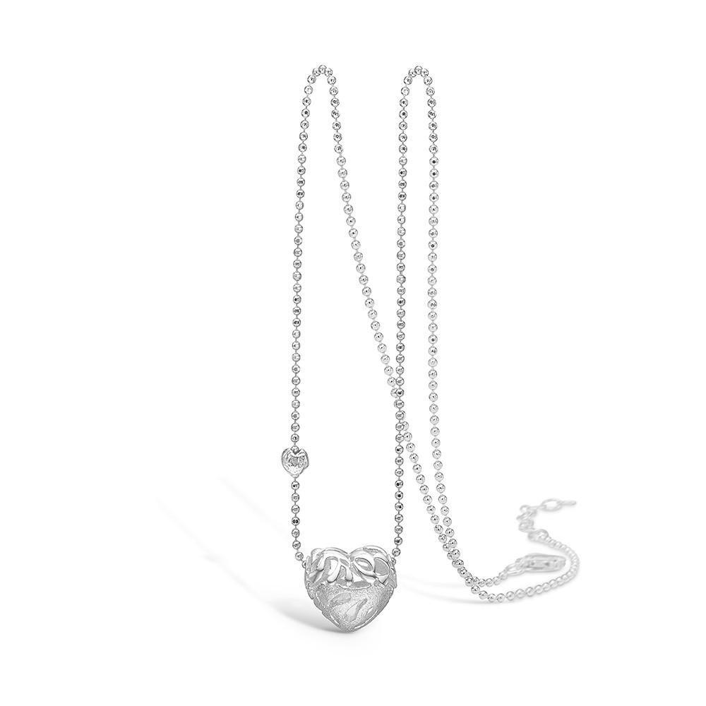 Blossom Sølv Halskæde med Hjertemotiv 21301005-45
