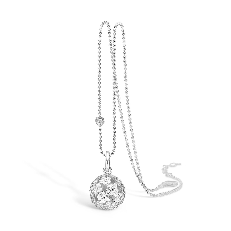 Blossom Sølv Halskæde med Ferskvandsperle 21321239-80