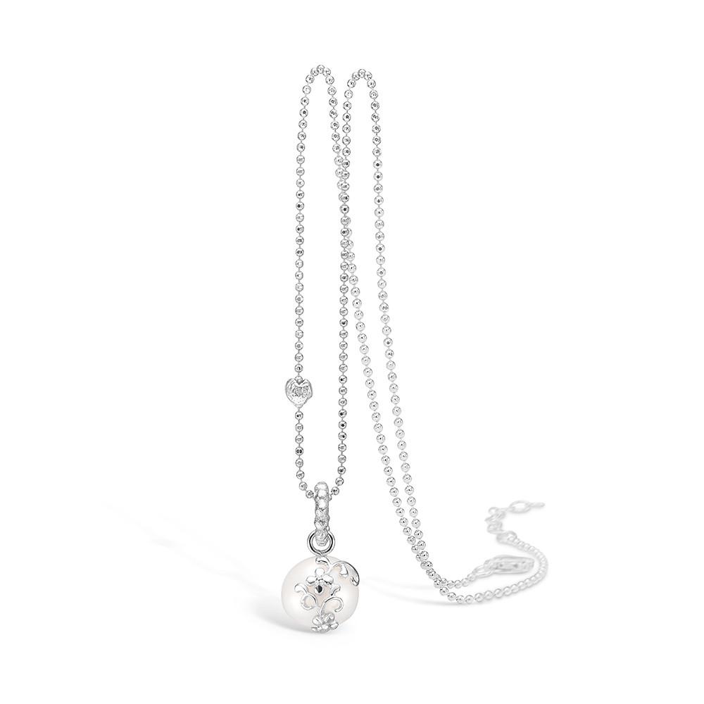 Sølv Halskæde fra Blossom med Ferskvandsperle 21331028-45